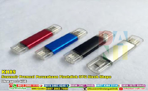 Souvenir Promosi Perusahaan Flashdisk OTG Sleek Shape