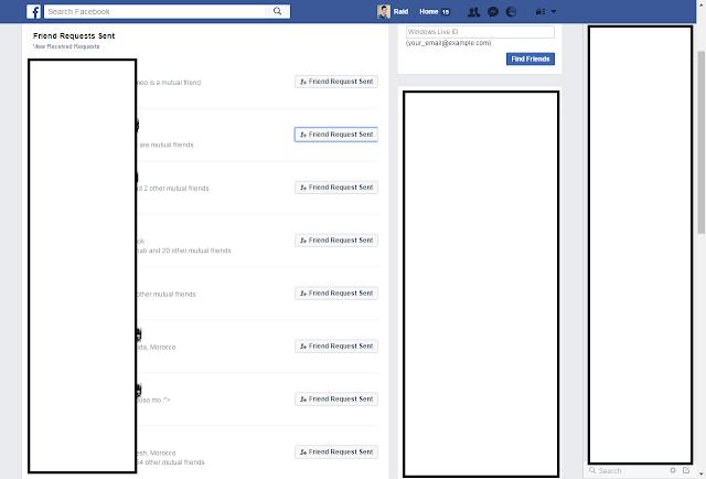 معرفة الأشخاص الذين لم يردوا على طلب الصداقة على الفيسبوك