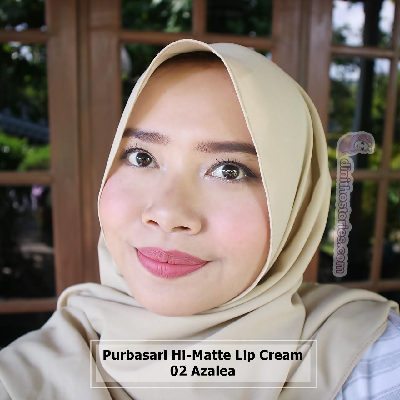 Purbasari Hi Matte Lip Cream Review And Swatch All Shades Dini The 02 Azalea