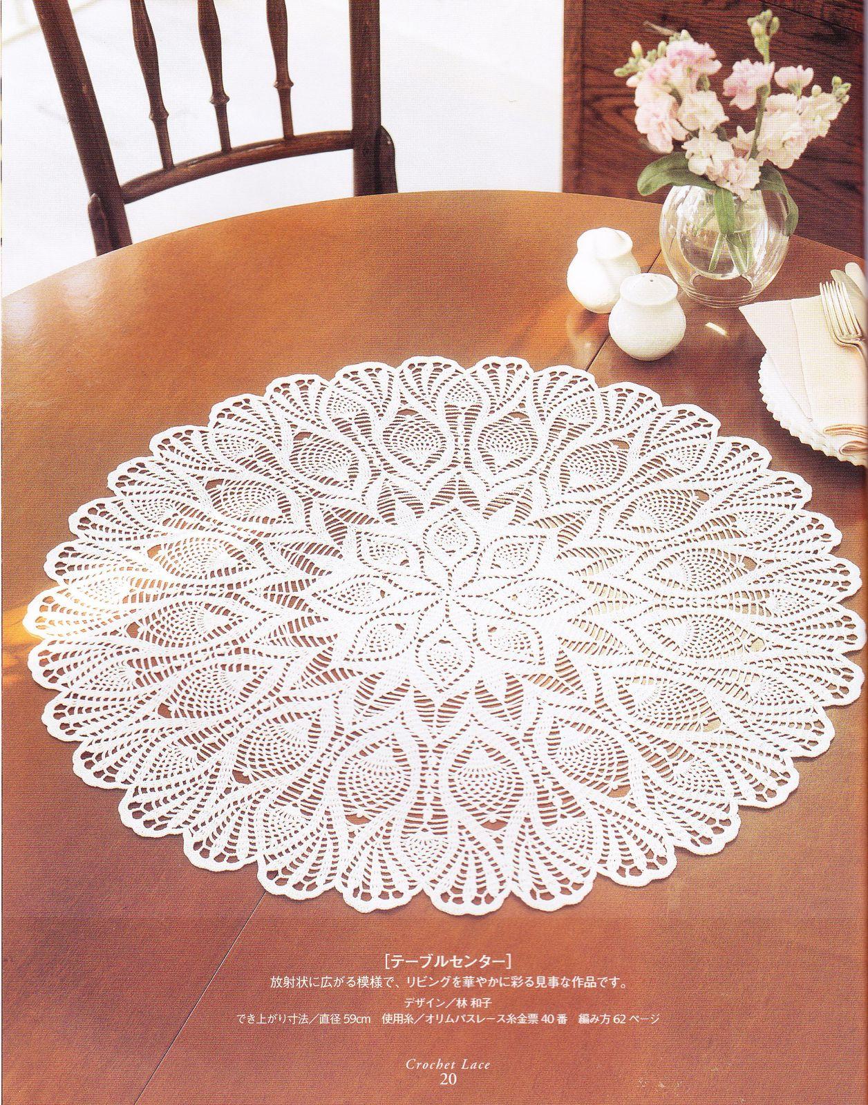 PATRONES GRATIS DE CROCHET: TAPETE, centro de mesa a crochet ...