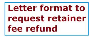 Letter format to request retainer fee refund letter formats and sample letter format to request retainer fee refund altavistaventures Images