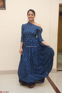 Anchor Anasuya in a Blue Gown at Jai Lava Kusa Trailer Launch ~  Exclusive Celebrities Galleries 034.JPG
