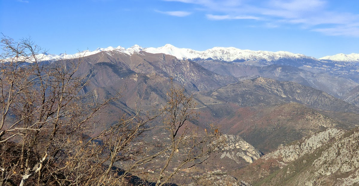 View from Mont Razet with Sospel deep in the valley