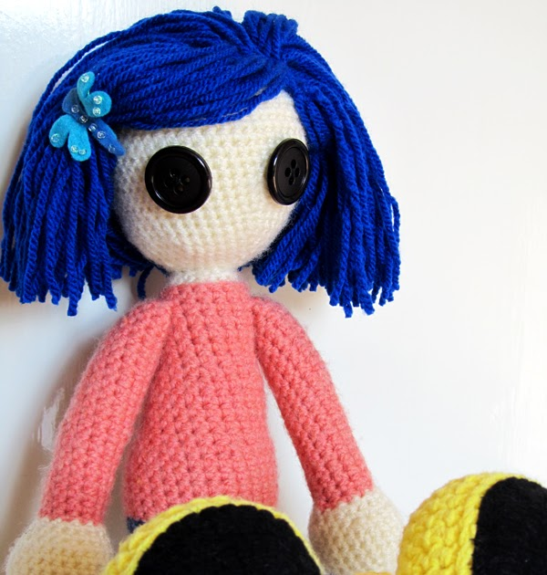 Kookoocraft Unique Handmade Fabric Button Earrings And Rings Crocheted Art Dolls Unikaten Nakit Coraline Doll