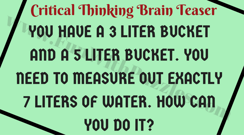Brain Teasers to Boost Students Critical Thinking Skills-Fun With