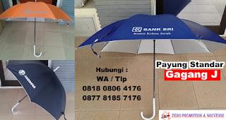 payung standard payung gagang J, Payung Polos Otomatis, payung premium gagang j, payung Promosi Perusahaan lapis silver otomatis