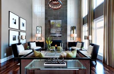 8 Ide Mendekorasi Ruang Keluarga Dengan Atap Yang Tinggi ! - Tempat Perapian