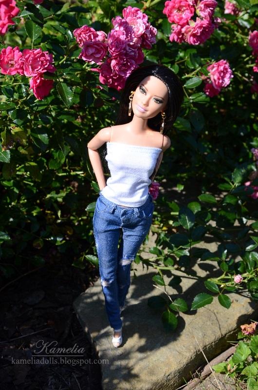 Handmade jeans for dolls