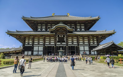 Traditional Looking Buddhist Temple of Todaiji in Japan