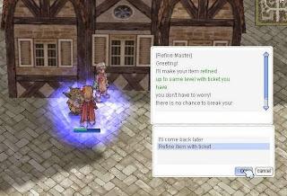 Ragnarok Online Item Upgrade system