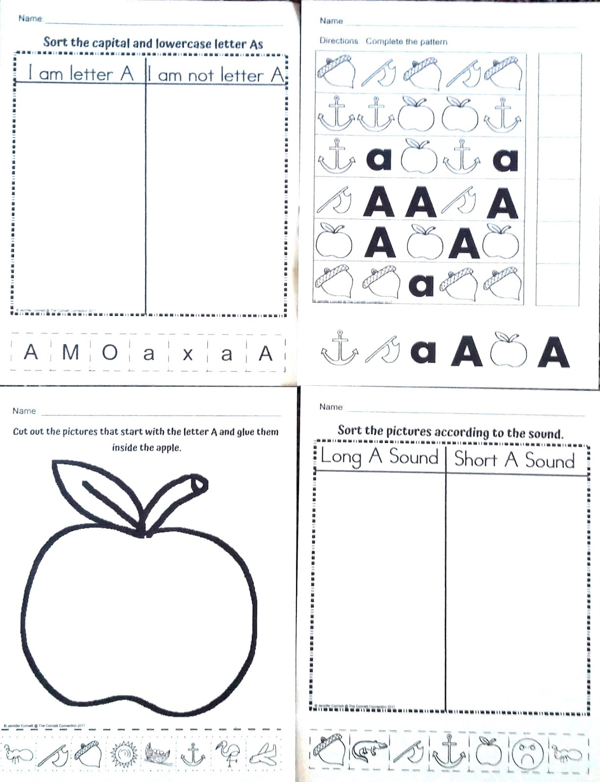 Alphabet Center Packets