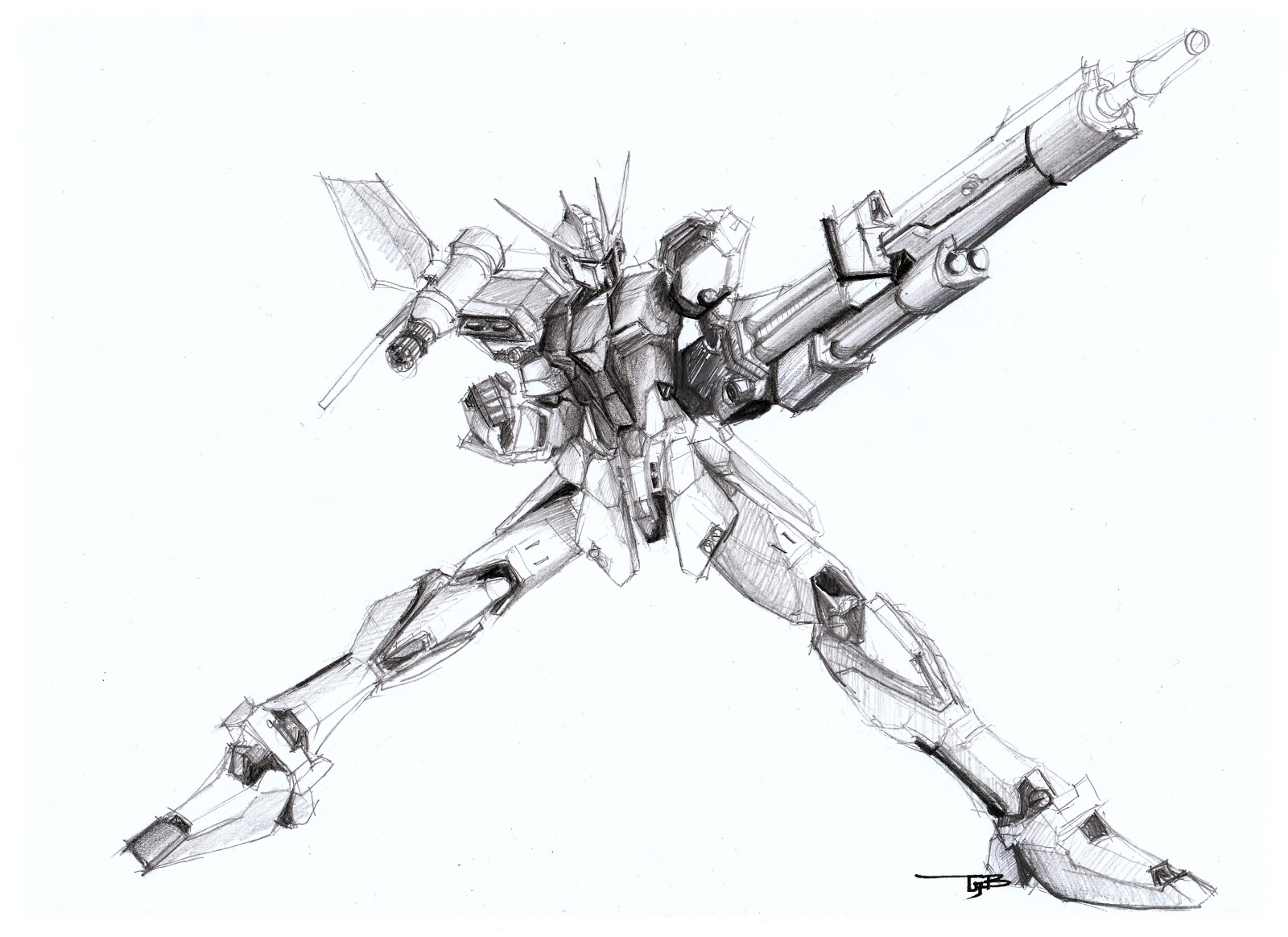 oh yea, Gundam Launcher Strike! hand sketched by me..