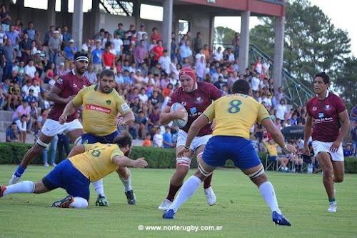 Gran victoria de Los Mayuatos ante Brasil. Foto de Jorge Skaf para Norte Rugby.
