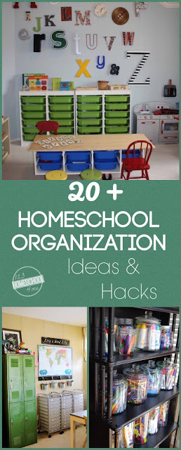 20+ Homeschool Organization Ideas & Hacks - so many really fun, unique, and creative ideas perfect for new homeschoolers and back to school