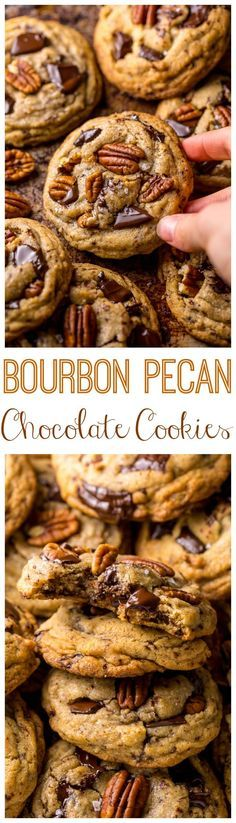 Brown Butter Bourbon Pecan Chocolate Chunk Cookies