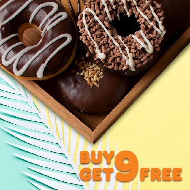 #DunkinDonuts - #Promo Beli 9 Gratis 9 Donut & Cashback 20% Pakai GOPAY (s.d 04 Mei 2019)