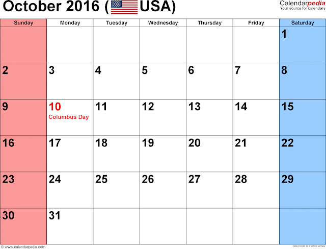 October-2016-Printable-Calendar-US-Holidays
