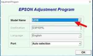 program reset epson l120