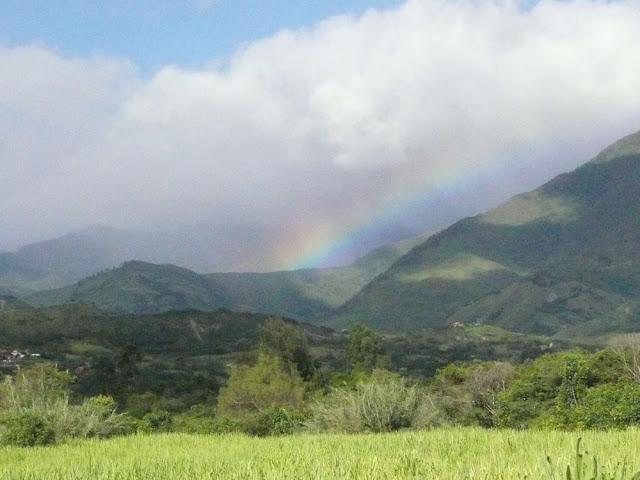 ヴィルカバンバの虹の写真