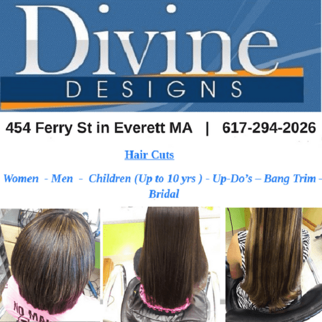 Welcome To Divine Designs Hair Salon of Everett MA!