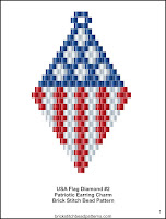 Free patriotic brick stitch seed bead pattern printable pdf.