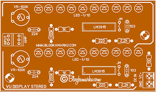 Vu display 10 led stereo untuk power amplifier