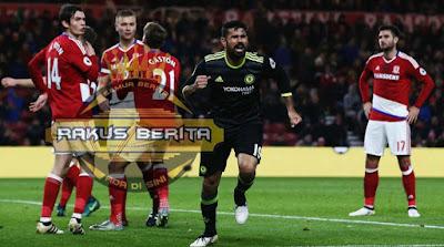 Gol Tunggal Diego Costa Kontra Middlesbrough