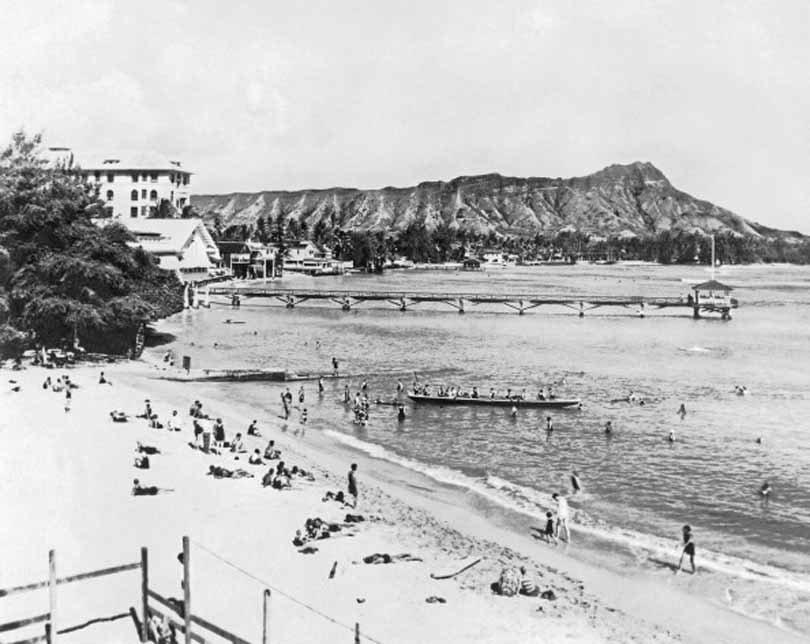 Waikiki Beach Hotels Photographs