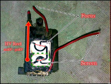 Trimpot / VR Screen / Focus Flyback (FBT)