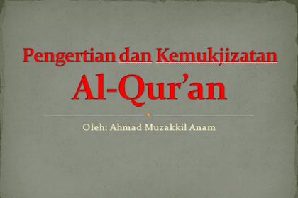 Pengertian dan Kemukjizatan Al-Qur'an Ppt.