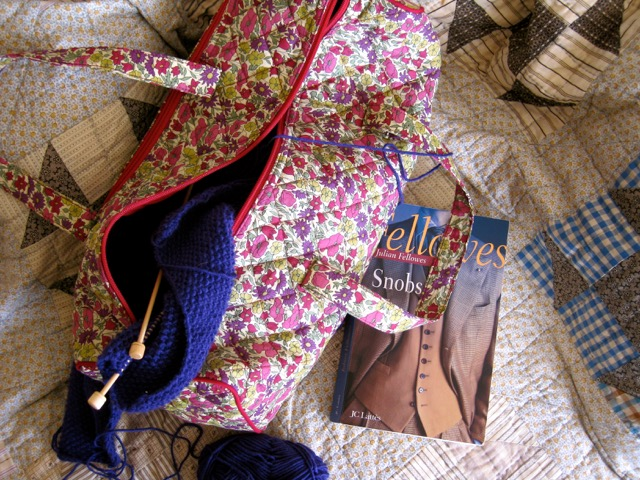 Knitting and book