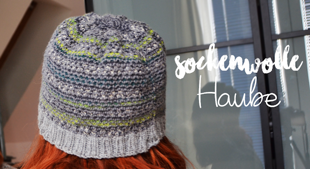Haube aus Sockenwolle | Broken Seed Stitch | vonStephanie.at