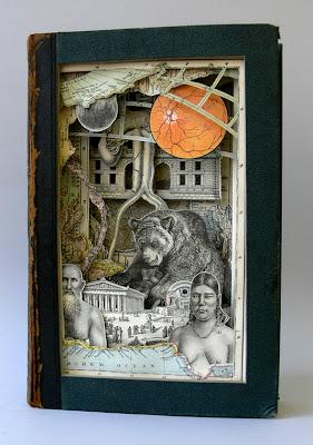 Reciclaje de libros antiguos para hacer arte