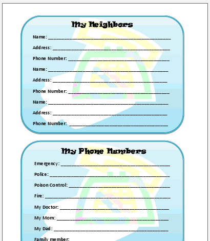 contact list template for emergency list templates best photos of – Emergency Phone Number List Template