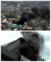 Leather goods of 9 containers destroyed from Prince Street fire!