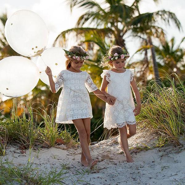 Vestidos para niñas románticos primavera verano 2018| Moda 2018 niñas | Moda en ropa para niños y niñas 2018: Colección Pioppa primavera verano 2018.