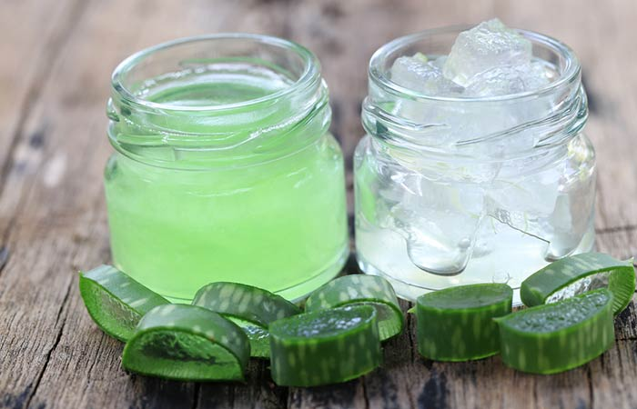 Hausgemachte Conditioner für lockiges Haar - Aloe Vera und süße Mandelöl Haarspülung zu speichern