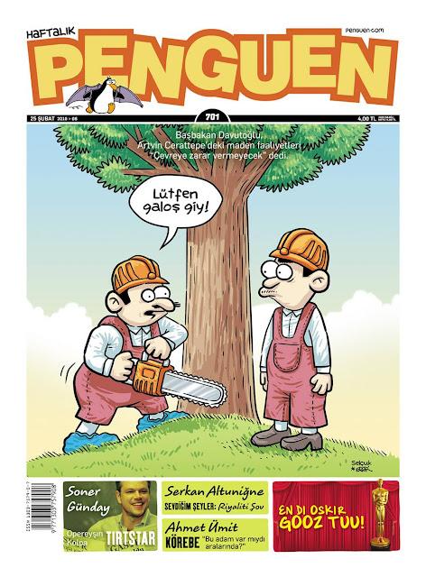 Penguen Dergisi - 25 Şubat 2016 Kapak Karikatürü