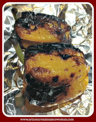 Roasted Yellow Peppers for Turkey Tacos