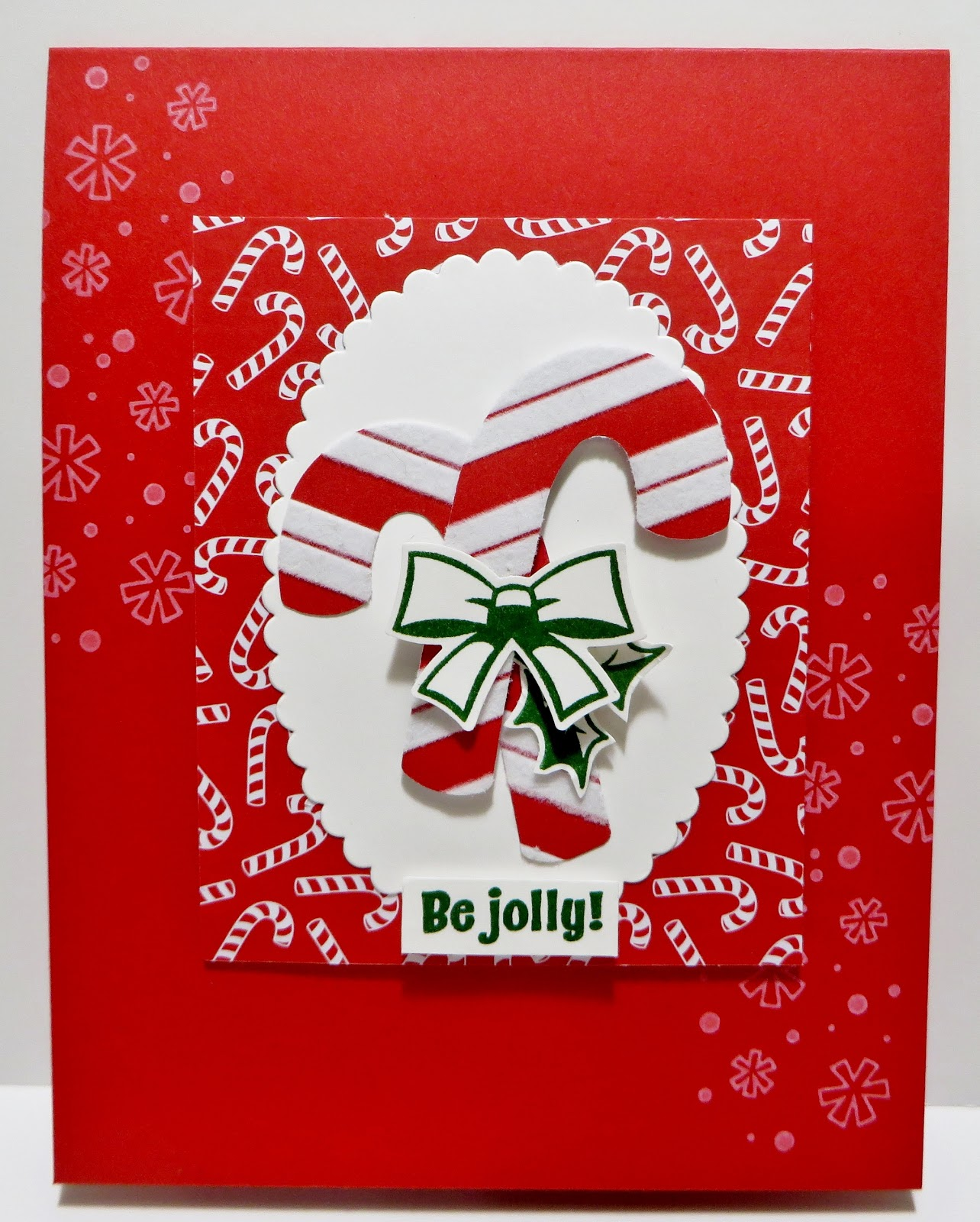 Lynn S Locker Sneak Peek Santa S Workshop Candy Cane Season Candy Cane Punch Layering Ovals Christmas Card