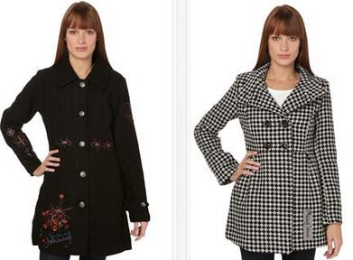 Abrigo color negro o gris claro a cuadros
