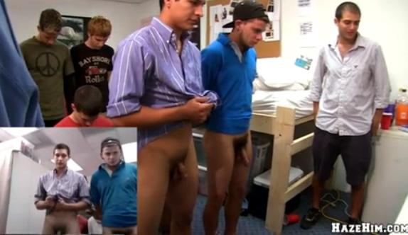 Sexo Gay Forçado - Calouros passando pelo trote sexual da faculdade 1