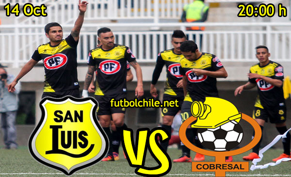 Ver stream hd youtube facebook movil android ios iphone table ipad windows mac linux resultado en vivo, online:  San Luis vs Cobresal