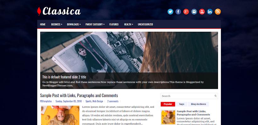 Classica Free Blogger Template