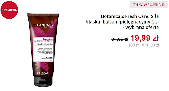 Botanicals Fresh Care - Balsam do włosów