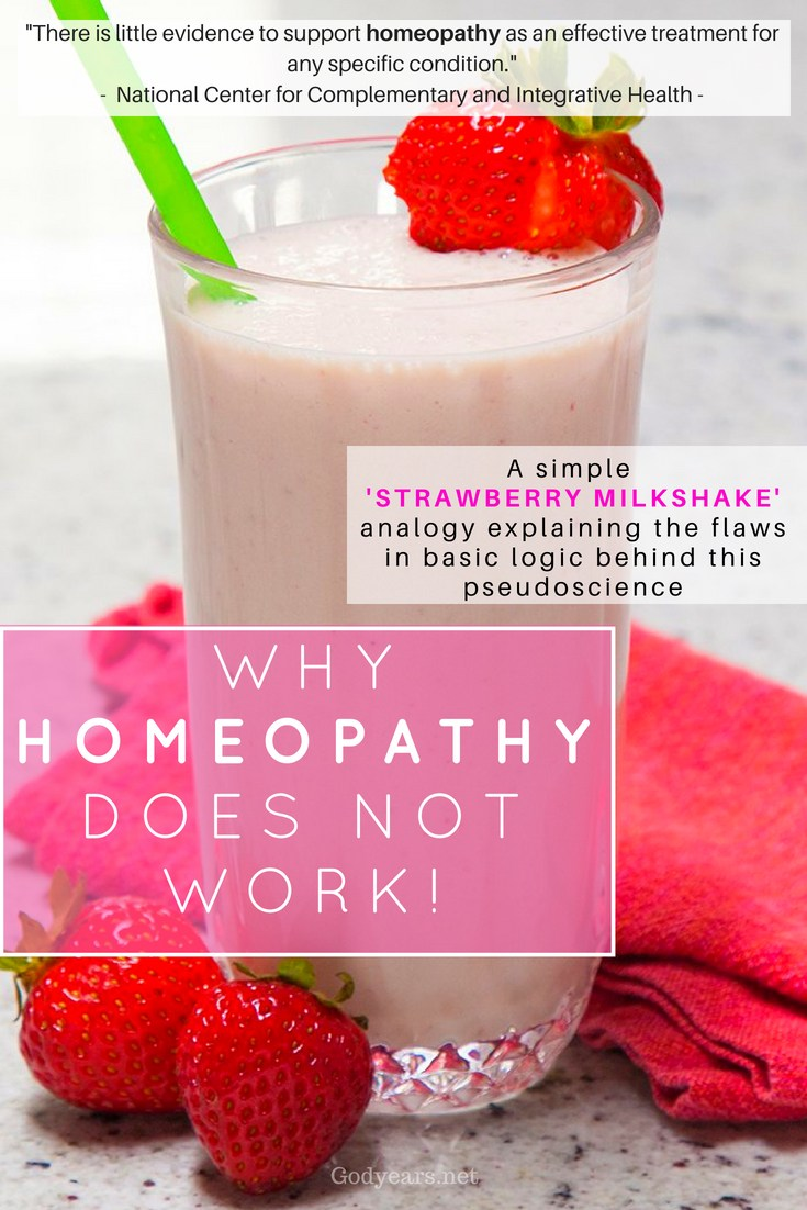 Homeopathy - The 'science-defying strawberry milkshake' analogy
