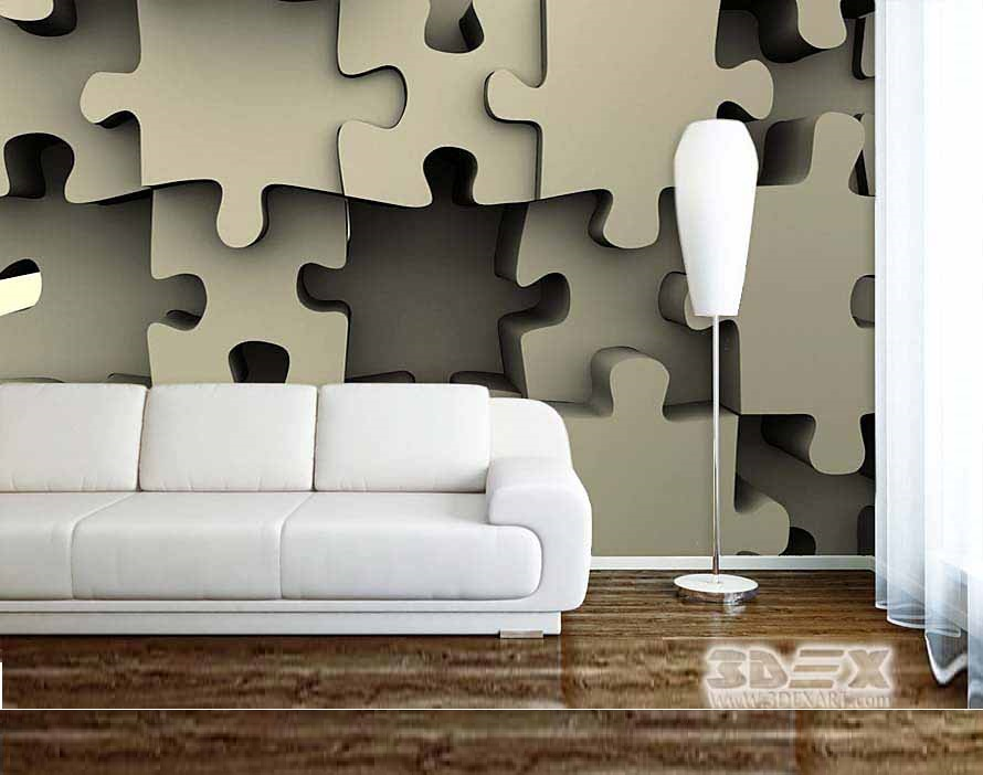 Stunning 3D Wallpaper for living room walls, 3D wall ...