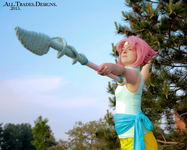Pearl Steven Universe Cosplay Tutorial Masterpost with Crocheted Spear Pattern!