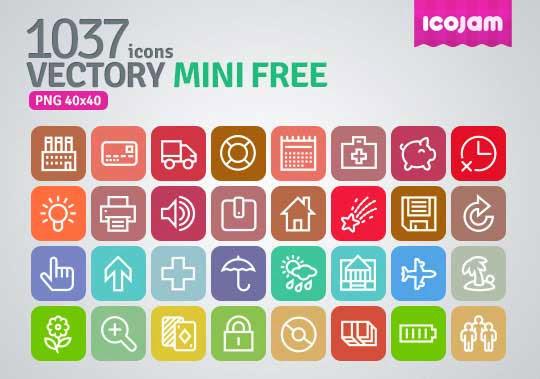 Vector Mini Free Icon Pack