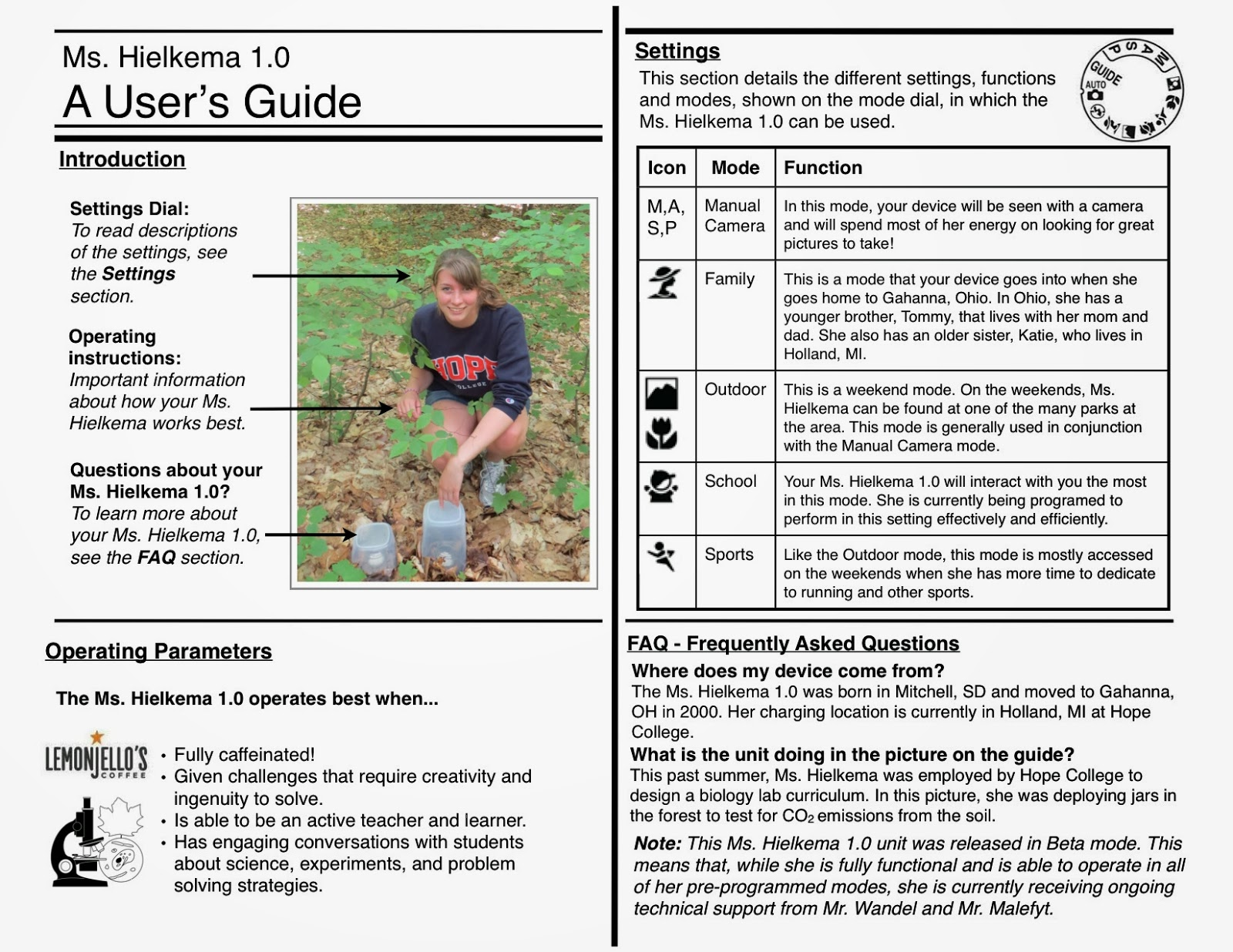 Hamilton 7th Grade Science Survival Guide Tuesday Class